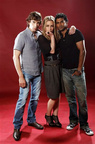 SDCC 2011 Photo Shoot Sendhil, Chris Gorham, Piper Perabo 2