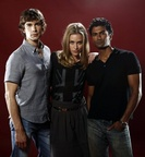 SDCC 2011 Photo Shoot Sendhil, Chris Gorham, Piper Perabo 1