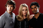 SDCC 2011 Photo Shoot Sendhil, Chris Gorham, Piper Perabo 3
