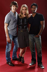 SDCC 2011 Photo Shoot Sendhil, Chris Gorham, Piper Perabo 4
