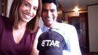 Sendhil and Nina Lisandrello on Set