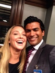 Sendhil and Elisabeth Rohm On Set